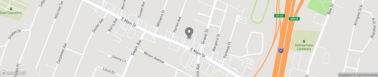 Map of 800 E Main Street in Meriden