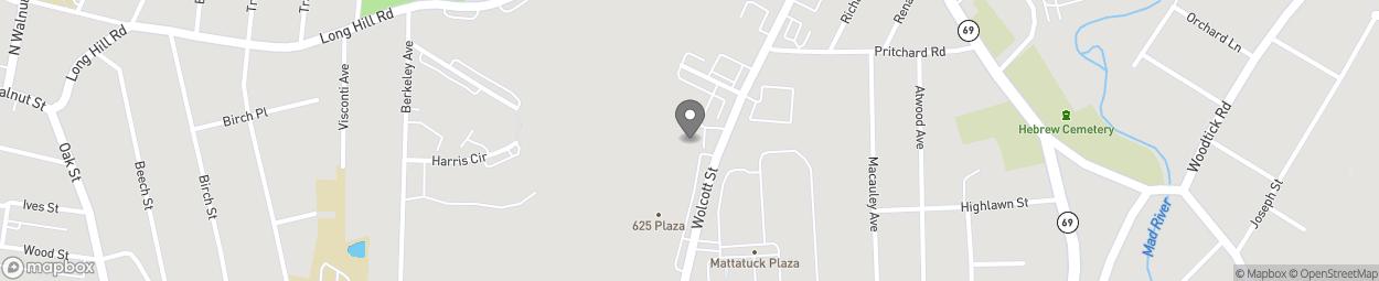 Map of 689 Wolcott Street in Waterbury