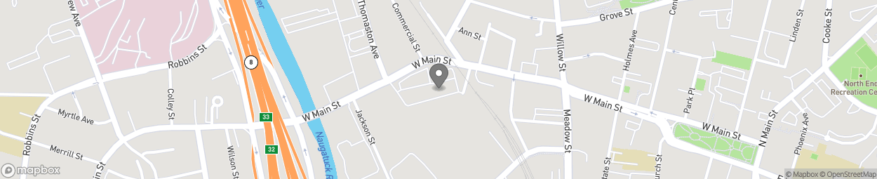 Map of 649 W Main St in Waterbury