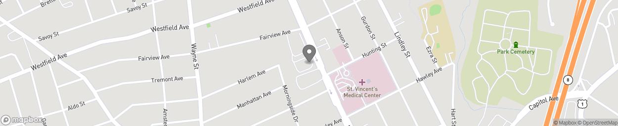 Map of 2969 Main Street in Bridgeport