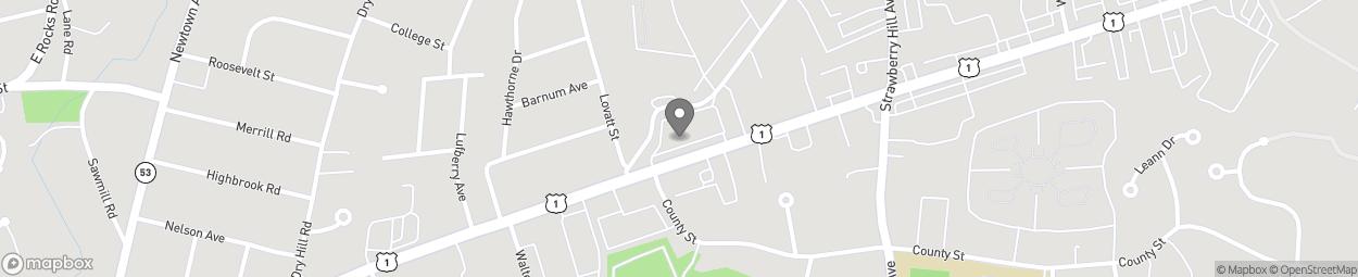 Map of 295 Westport Ave in Norwalk