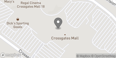 Map of 1 Crossgates Mall Road in Albany