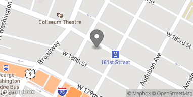 Map of 614 West 181st Street in New York