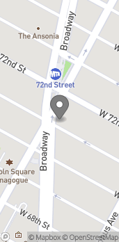 Map of 2066 Broadway in New York