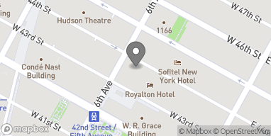 Map of 62 West 44th Street in New York