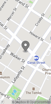 Map of 260 Canal Street in New York