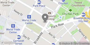 Map of 217 Broadway in New York
