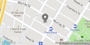 Map of 33 Park Place in New York