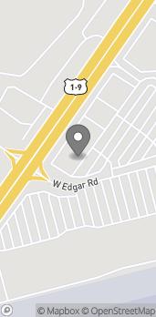 Map of 689 West Edgar Road in Linden