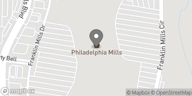 Map of 1358 Franklin Mills Circle in Philadelphia