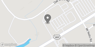 Map of 4543 Milford Road in East Stroudsburg