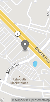 Mapa de 19354 Miller Road en Rehoboth Beach