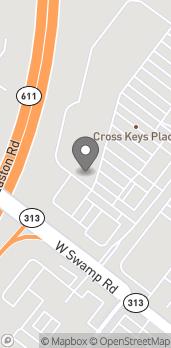 Map of 4341 Swamp Road in Doylestown