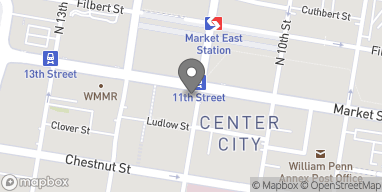 Map of 1100 Market St in Philadelphia