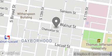 Map of 1206 Walnut St in Philadelphia