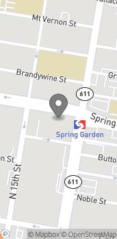 Map of 490 North Broad Street in Philadelphia