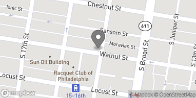 Map of 1501 Walnut St in Philadelphia
