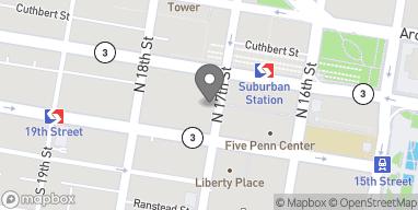 Map of 1701 Market St in Philadelphia