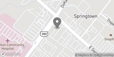 Map of 8 East Germantown Pike in Norristown