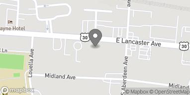 Map of 230 East Lancaster Avenue in Wayne