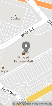 Map of 160 N Gulph Rd in King Of Prussia