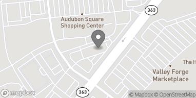 Map of 607 S Trooper Rd in Audubon
