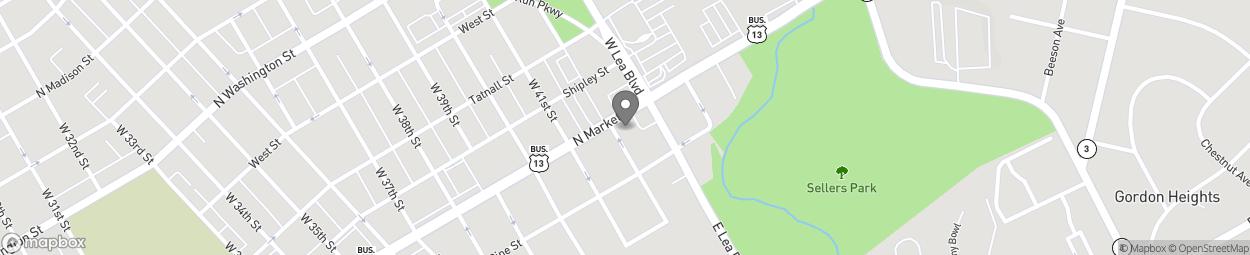 Map of 4200 North Market Street in Wilmington
