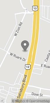 Mapa de 105 W Ruark Dr en Salisbury