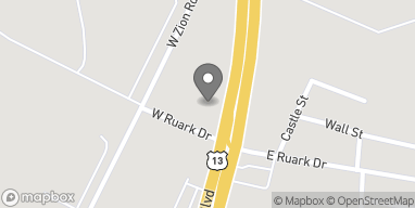 Map of 105 W Ruark Dr in Salisbury