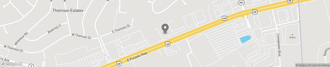 Map of 1101 E Pulaski Highway in Elkton