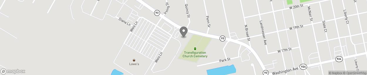 Map of 88 Susquehanna Boulevard in Hazleton