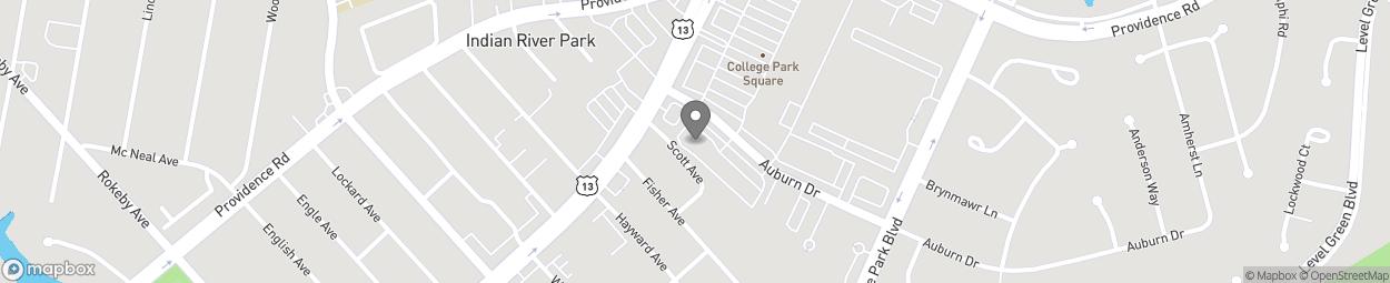 Map of 6541 Auburn Drive in Virginia Beach