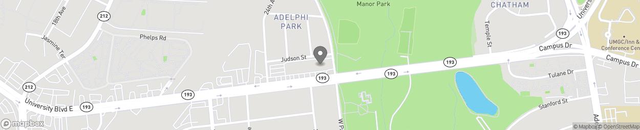 Map of 2510 University Boulevard Ea in Adelphi