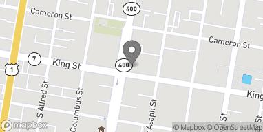 Map of 629 King Street in Alexandria