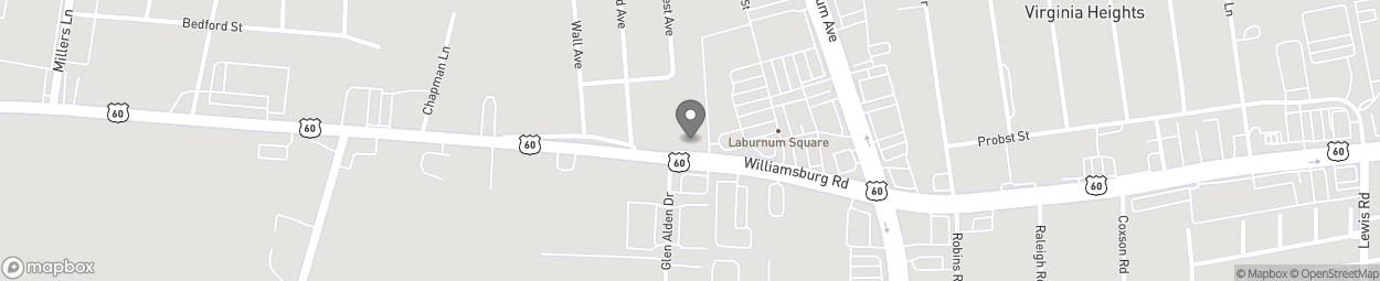 Carte de 4408 Williamsburg Road à Richmond