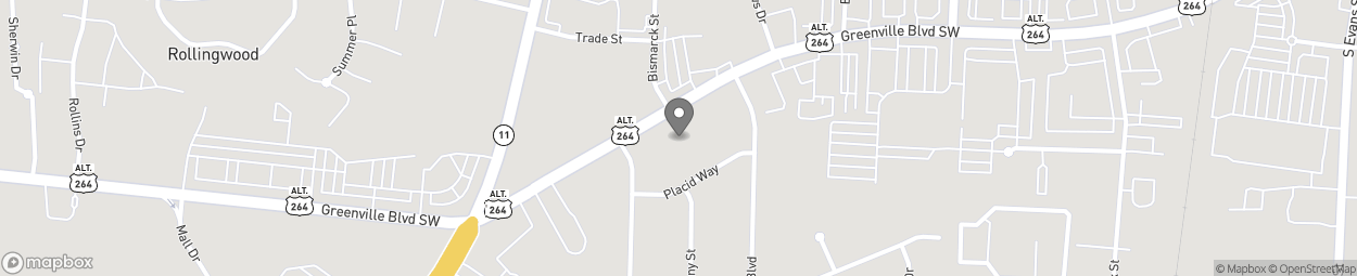 Map of 601 Greenville Blvd Southwes in Greenville