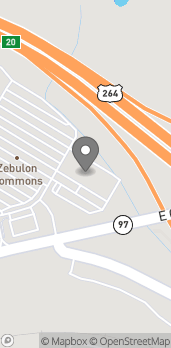 Map of 877 East Gannon Ave in Zebulon