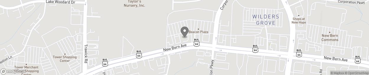 Carte de 3907 New Bern Ave à Raleigh