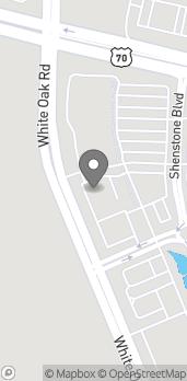 Map of 7055 White Oak Rd in Garner