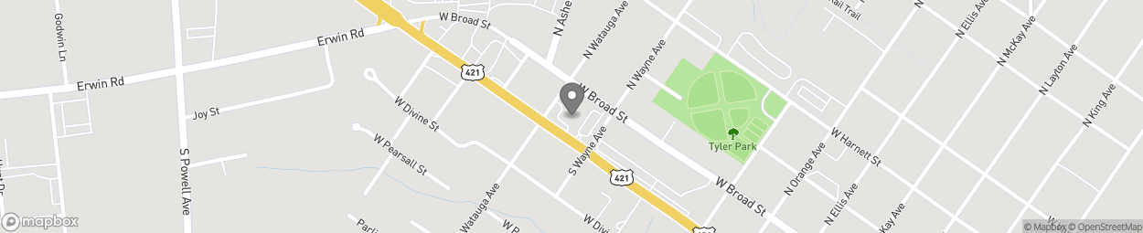 Map of 1108 W Cumberland St in Dunn