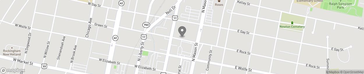 Carte de 60 E Rock St à Harrisonburg