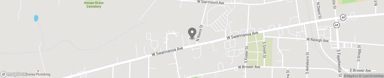 Map of 512 W Swannonoa Ave in Liberty