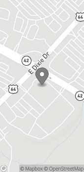 Mapa de 1334 East Dixie Drive en Asheboro