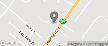 Map of 1106 Chuck Dawley Blvd in Mt Pleasant
