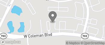 Map of 270 Coleman Blvd in Mt Pleasant