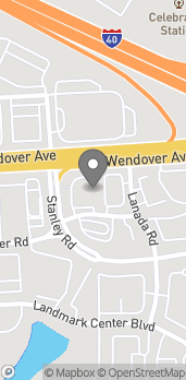 Map of 4405 Wendover Ave in Greensboro
