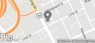 Map of 492 Meeting Street in Charleston