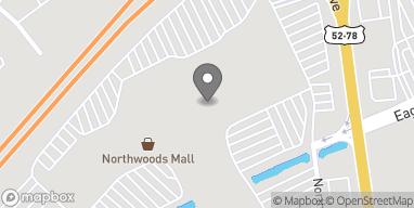 Map of 2150 Northwoods Blvd in Charleston