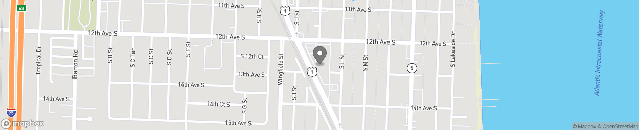 Map of 1208 S Dixie Highway in Lake Worth