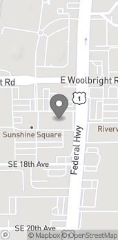 Mapa de 566 East Woolbright Road en Boynton Beach